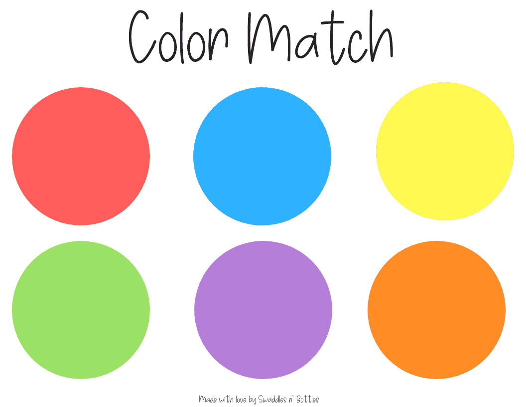 Cereal Color Match Printable