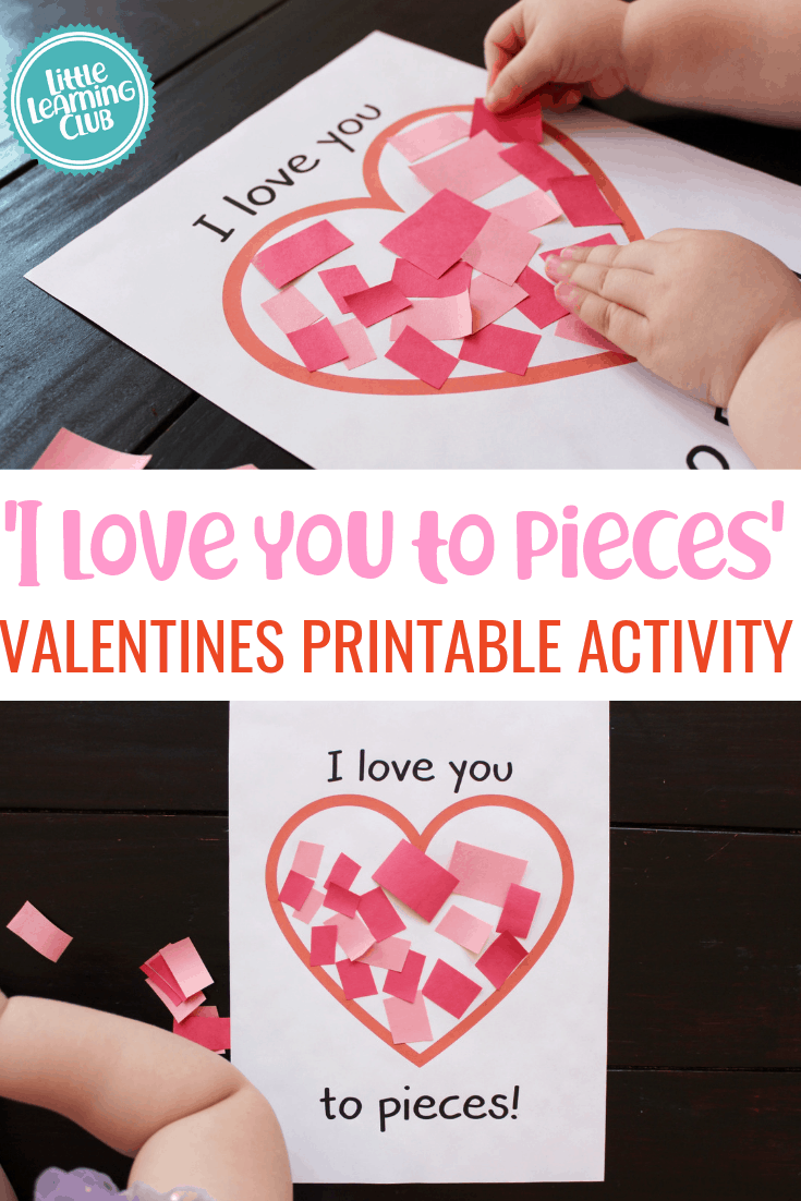 graphic relating to I Love You to Pieces Printable identify I Enjoy Oneself In the direction of Components Valentines Printable - Small Studying