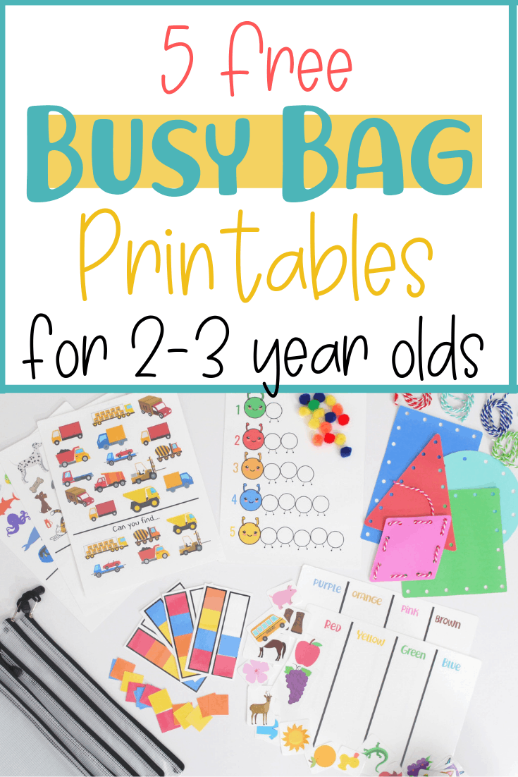 graphic about Free Printable Activities for Toddlers named 5 No cost Hectic Bag Printable Actions for Babies - Small