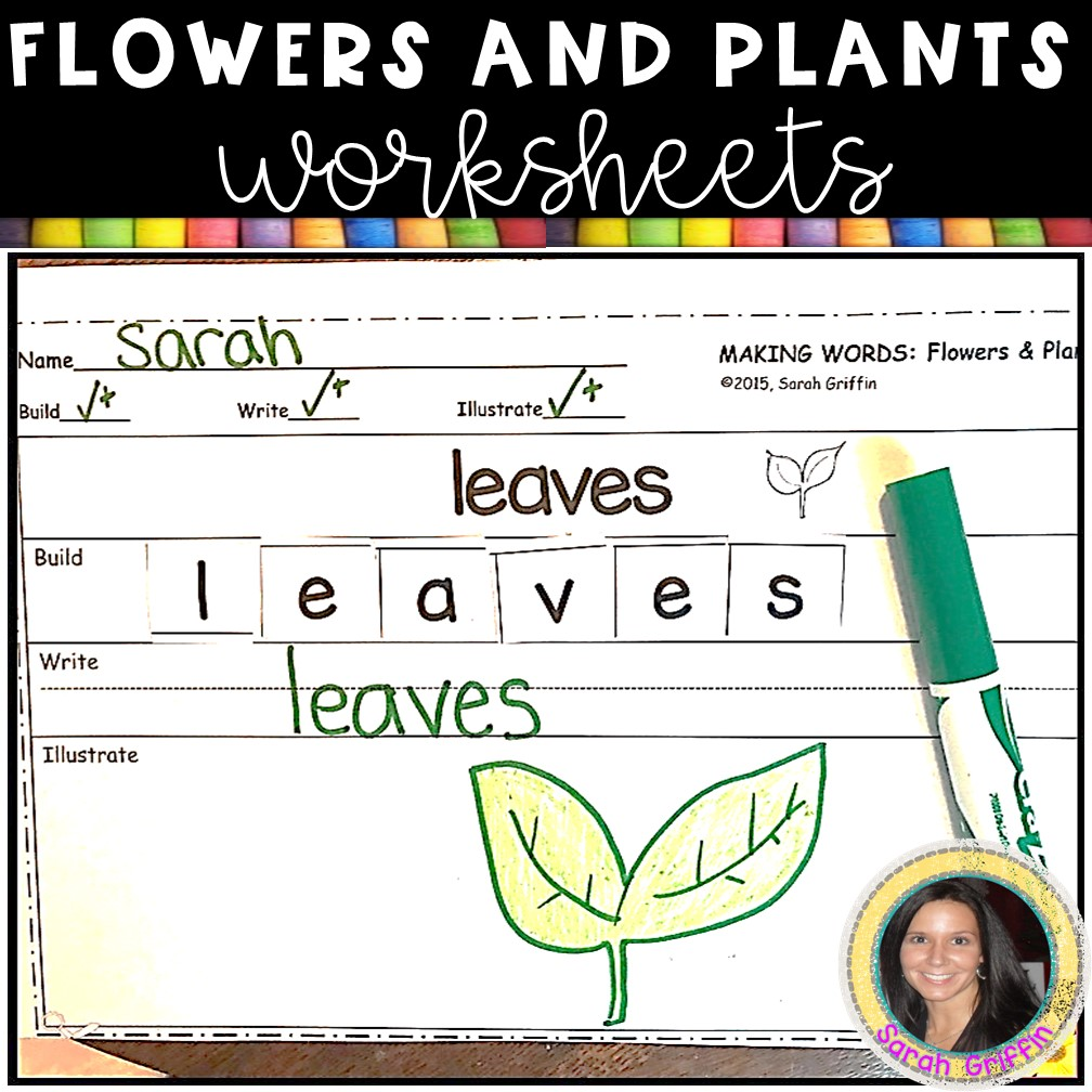 Making Words: Flowers and Plants Writing Activity for Kids