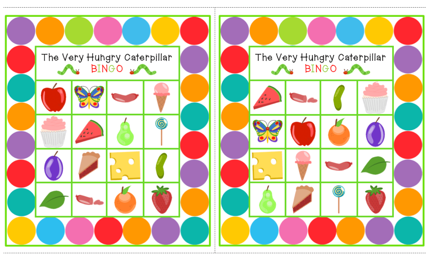 The Very Hungry Caterpillar Freebies
