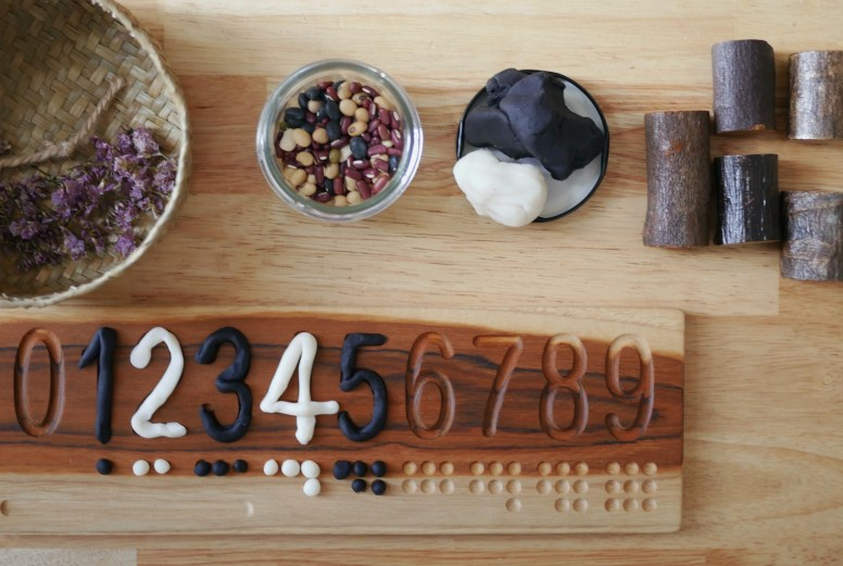 Nature Inspired Play Activity 18 - Palydough Maths