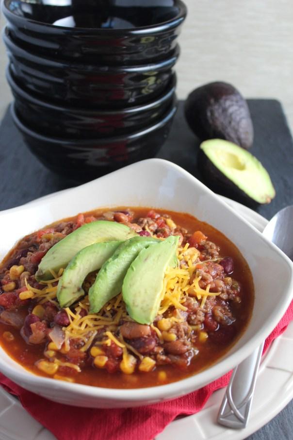Taco Soup with Fresh Avocado