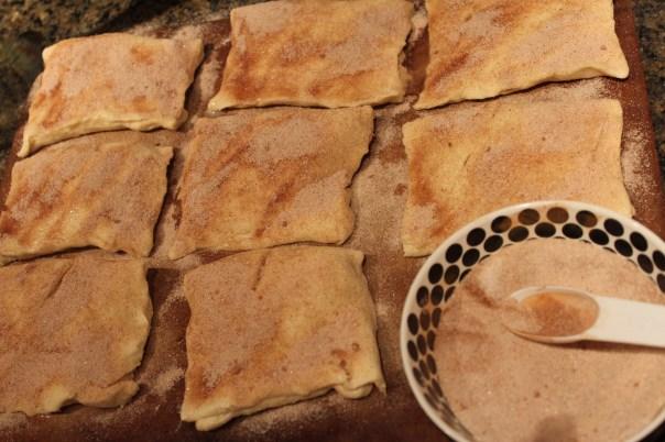 cream cheese, cinnamon, nutmeg, crescent rolls, dessert, sopapillas, sugar