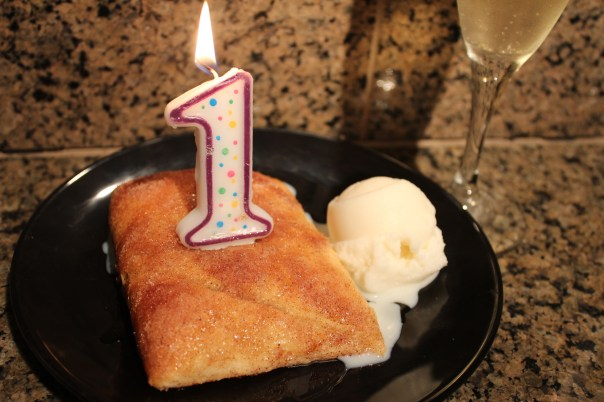 Champagne, nutmeg, first anniversary, dessert, recipe, food, ice cream, sopapillas, cinnamon, stuffed, cream cheese