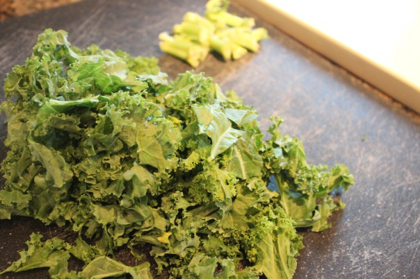 kale, chopped salad, roasting kale, recipe