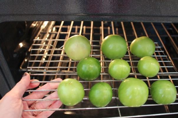 tomatillos, roasting tomatillos, oven roasted tomatillos, tomatillos for mole sauce, recipe