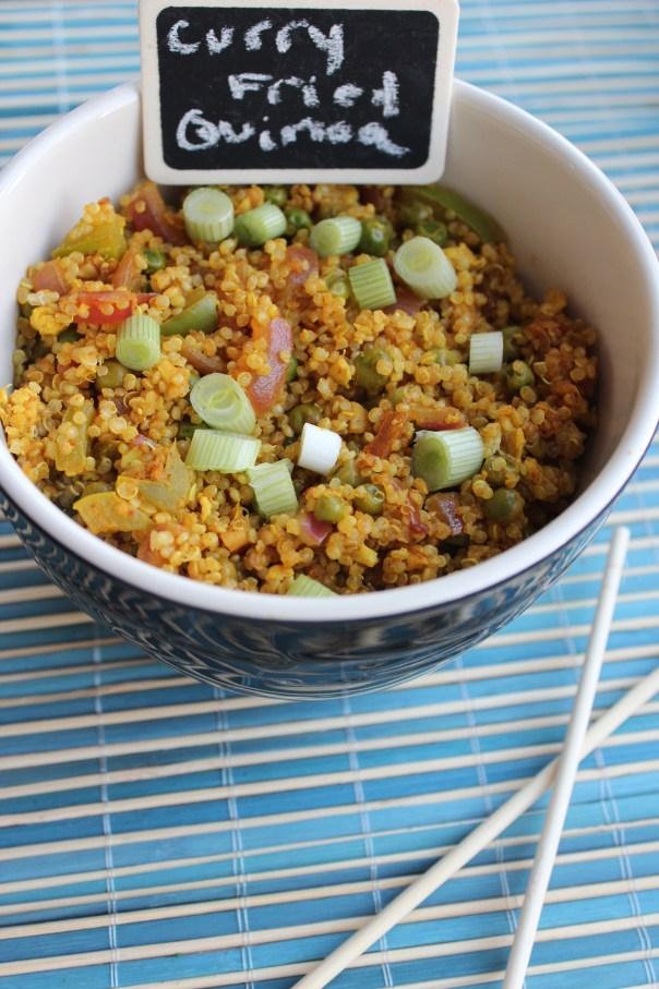Curry Fried Quinoa {Little Leopard Book}