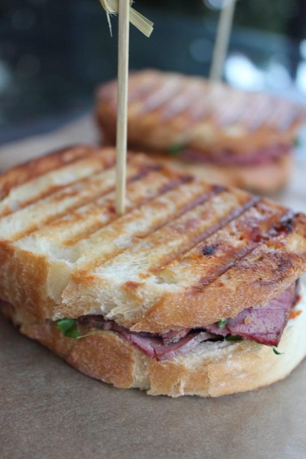 pastrami panini, panini sandwich, recipe, pressed sandwich, hot pastrami sandwich, hot pastrami panini