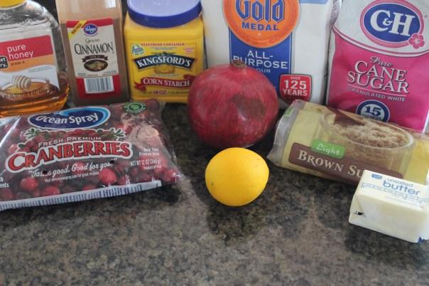 Cranberry Pomegranate Mini Pie Ingredients