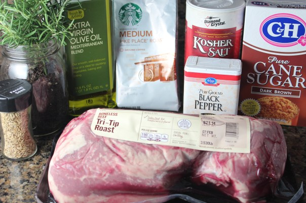 Coffee Crusted Tri Tip Ingredients