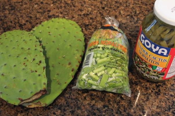 nopales, nopalitos, cactus, fresh cactus, chopped cactus, jarred cactus, chopped nopalitos