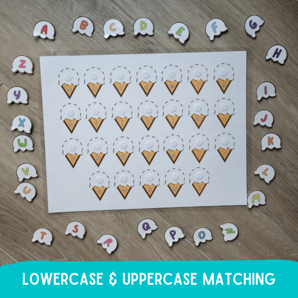 Lowercase and Uppercase Matching Activity