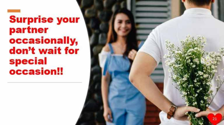 Surprise your partner occasionally, don't wait for special occasion!!