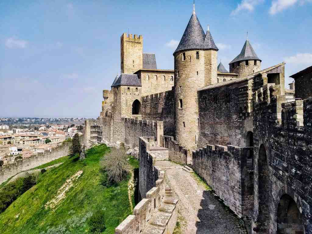 side of carcasonne in france