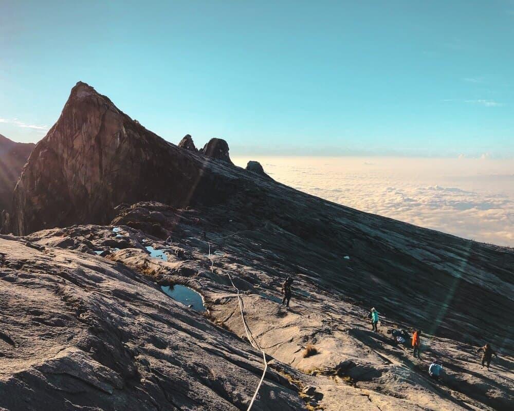 Climbing a volcano in Borneo