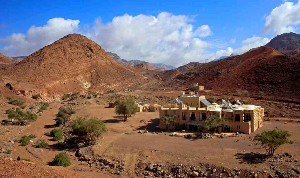 Picture of Feynan Ecolodge in the mountainous Dana Biosphere Reserve. One of the best ecolodges in the world.