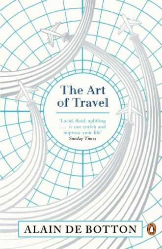 Book cover of The Art of Travel with airplane graphics.
