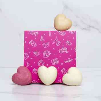 ethique gift set for normal skin and hair in a pink box.