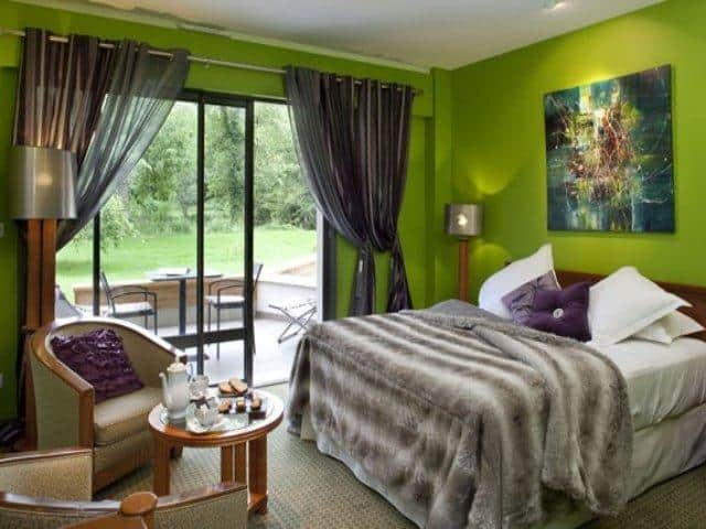 La Source Bleue hotel bedroom.