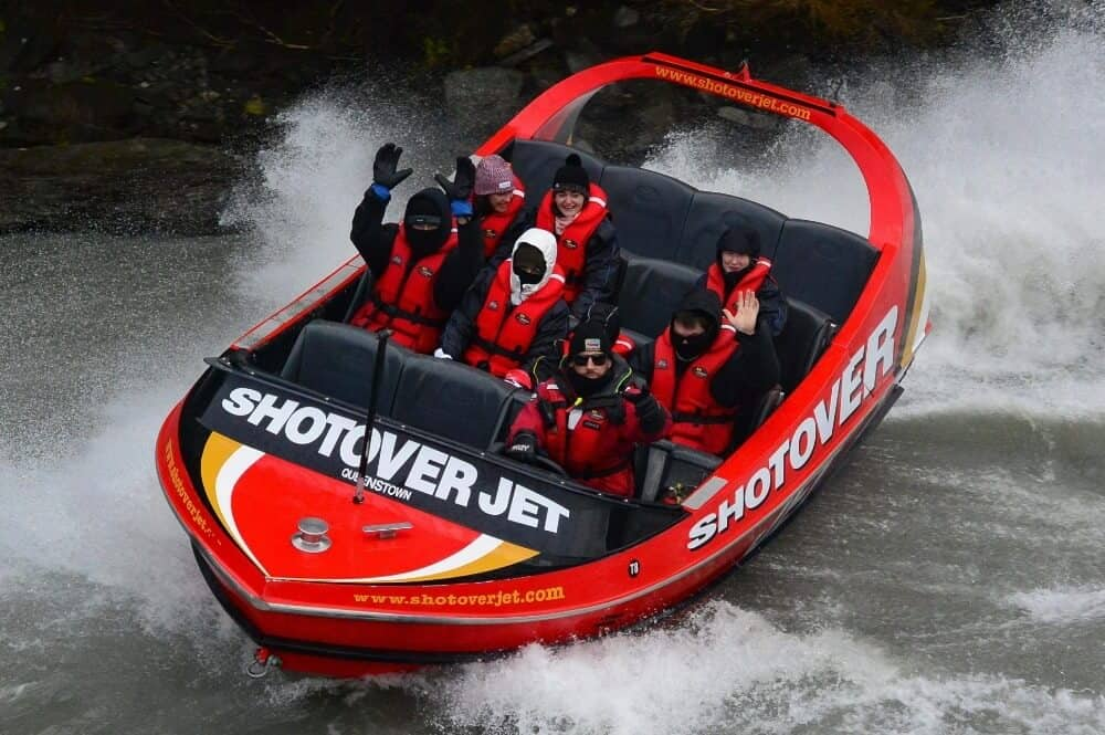 Shotover Jet for 4 day Queenstown itinerary
