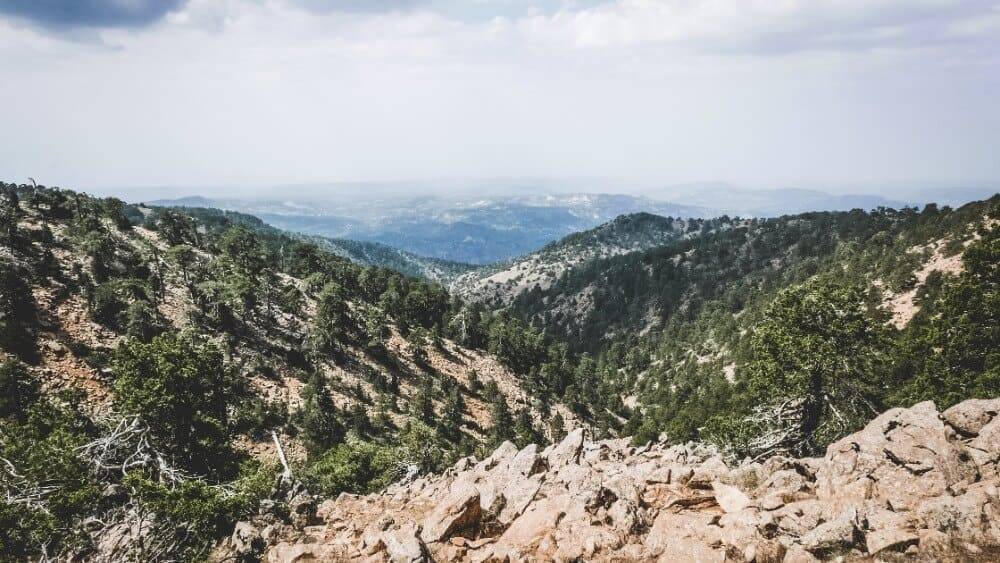 View of the Troodos Mountains for Cyprus villages to visit