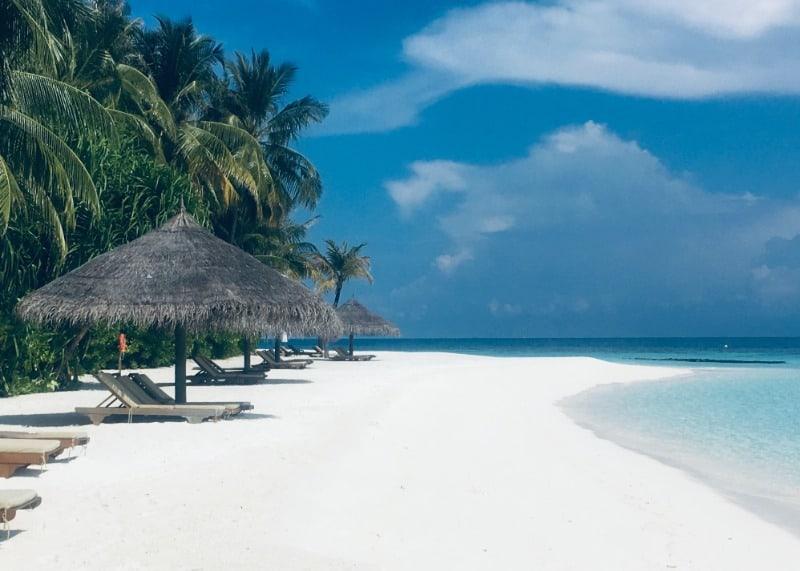Beach on the South Ari Atoll in the Maldives