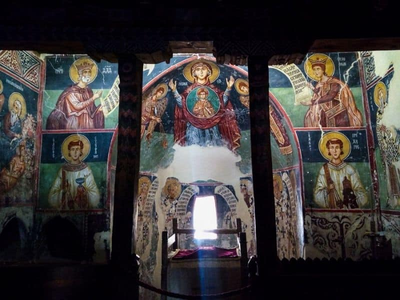 Frescoes in Church of Archangelos Michael in Pedoulas village. One of the hidden gems in Cyprus.