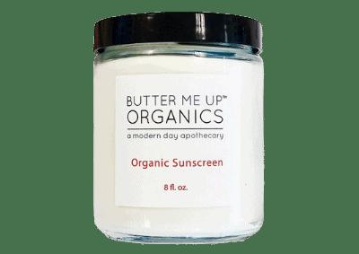 Jar of Butter Me Up Organics zero waste sunscreens