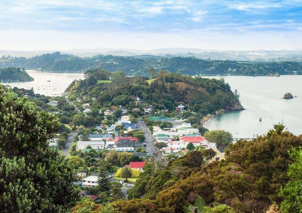 View from the historic town of Russell in the Bay of Islands