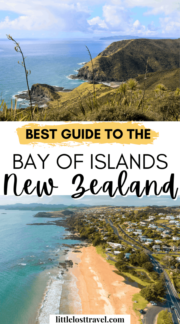Pinterest pin for the bay of islands itinerary.