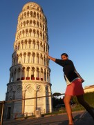 Me holding up the Leaning Tower! - Pisa, Italy