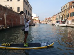 Who needs a gondala when you can paddleboard!?! - Venice, Italy