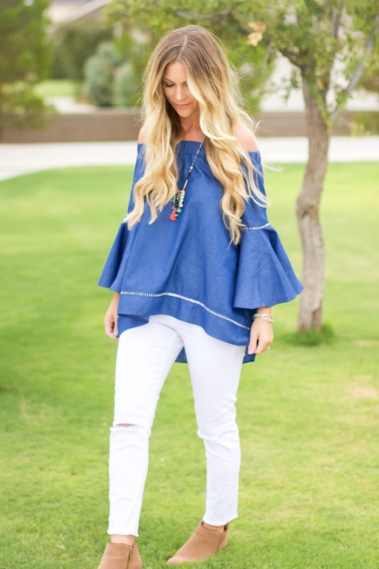 fall off the shoulder top shein