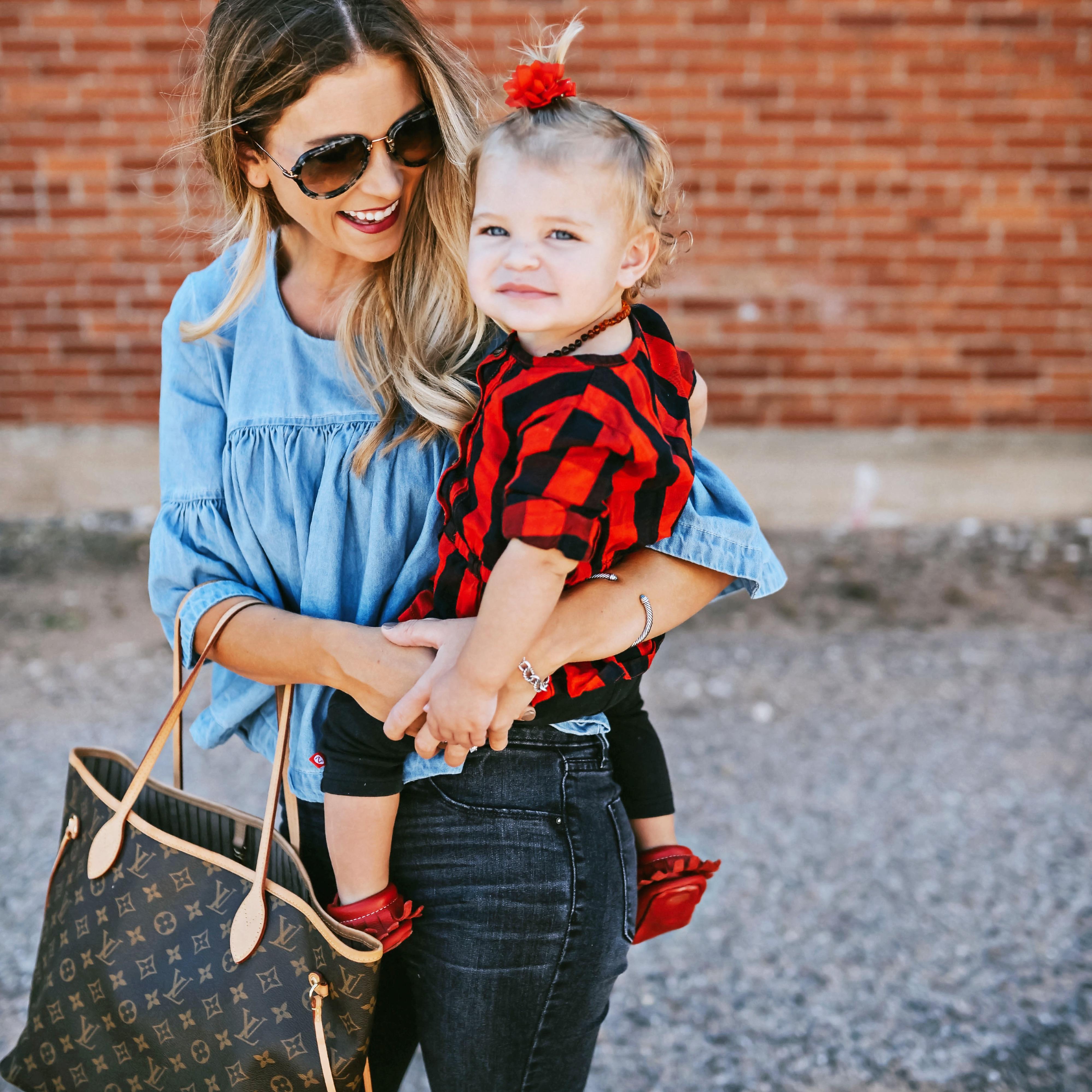 motherhood in style denim top carter's clothing