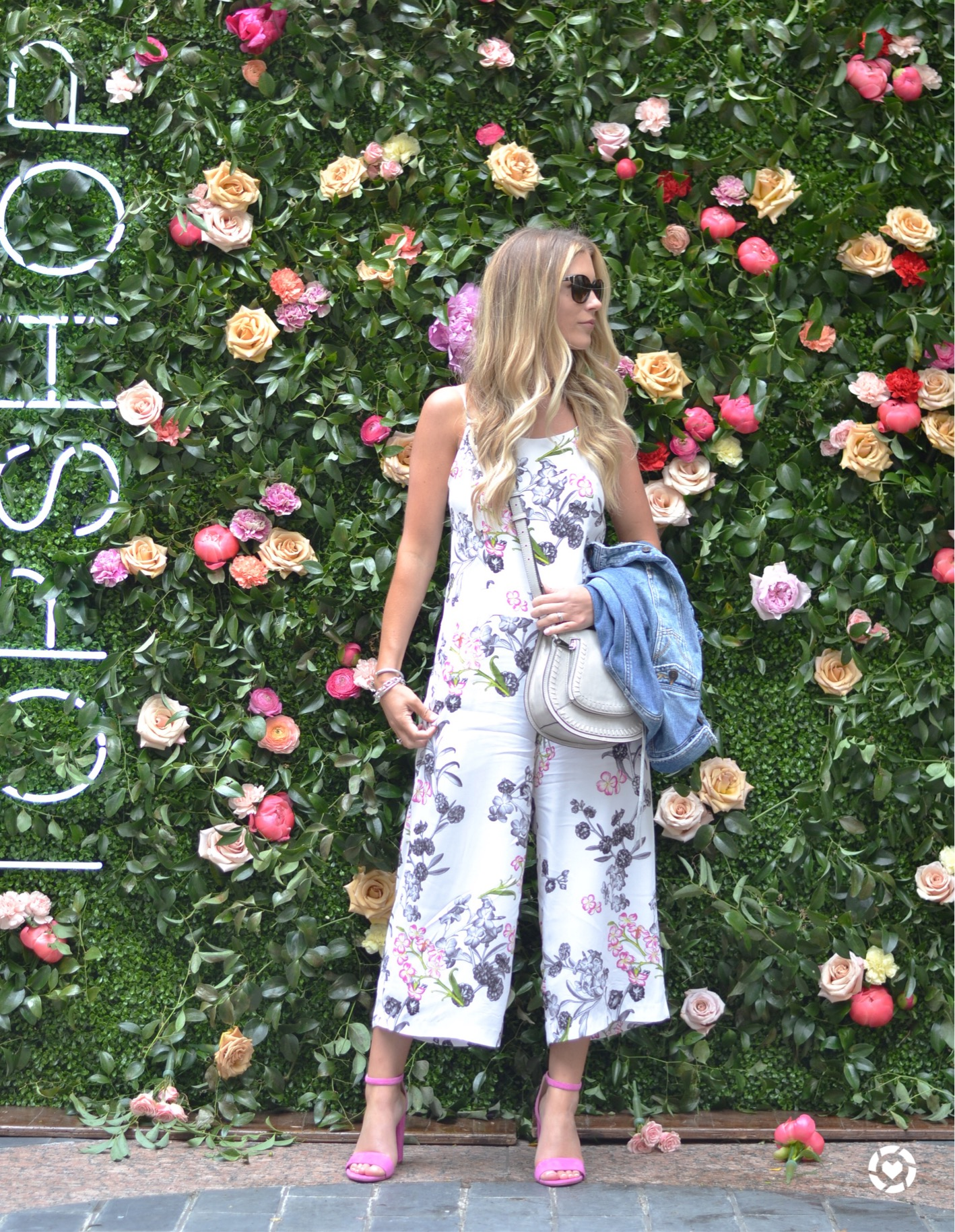 garden lunch with topshop white jumpsuit