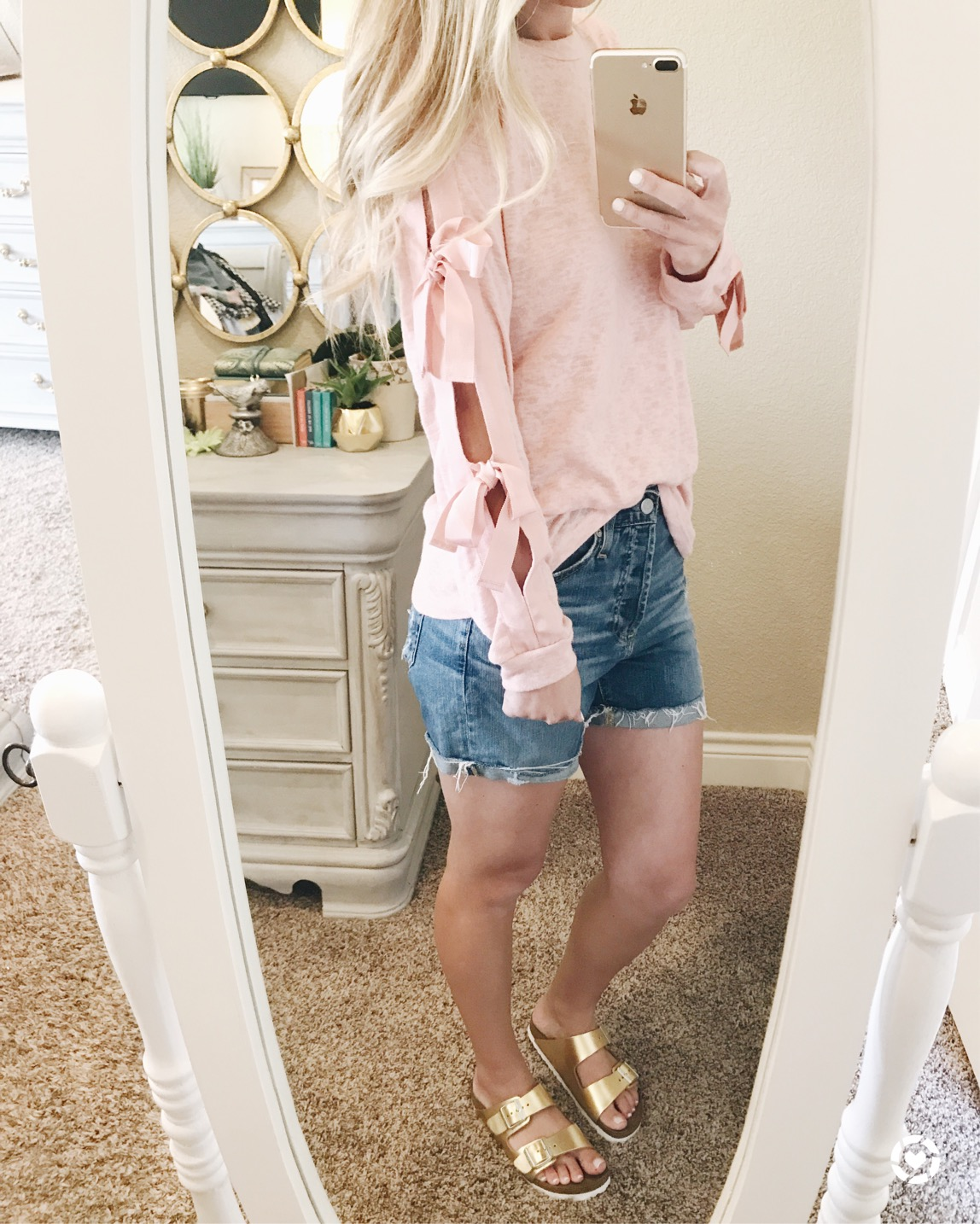 under $50 tie sleeve pink shirt in 4 colors Nordstrom