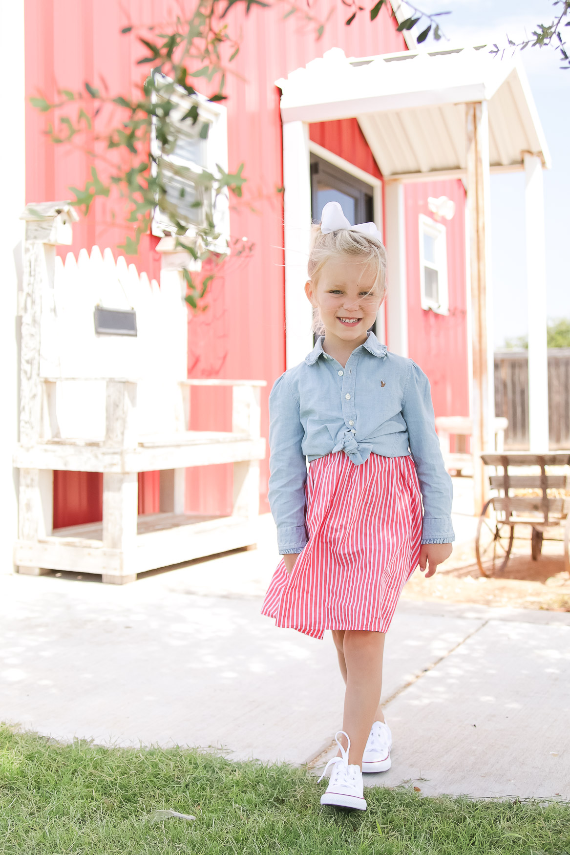 Bloomingdales Back to School Outfit // First Day of School Outfit for Preschool Ralph Lauren
