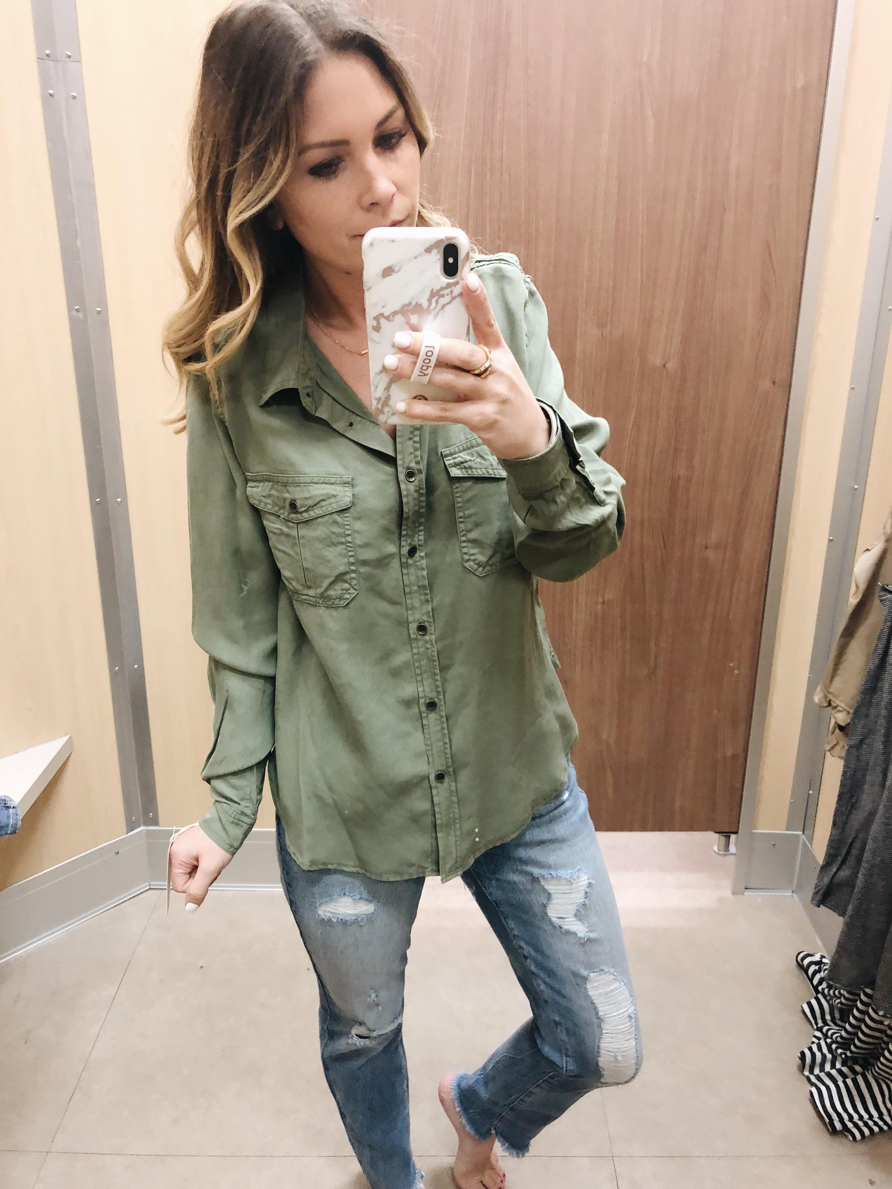 00ee484c6de ADD TO FAVORITES Women s Long Sleeve Soft Twill Shirt - Universal Thread™ · WOMEN S  TIE FRONT STRIPED LONG SLEEVE BUTTON DOWN ...