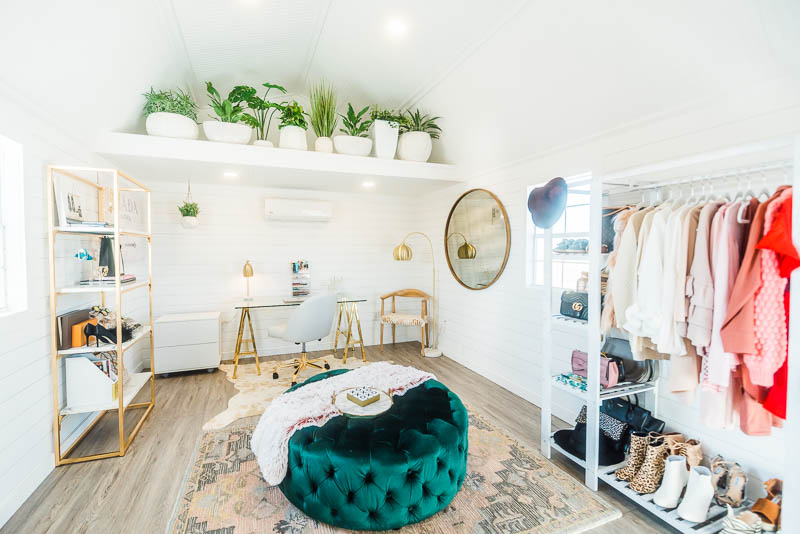 THE SHE SHED OFFICE OF EVERY WOMAN'S DREAMS