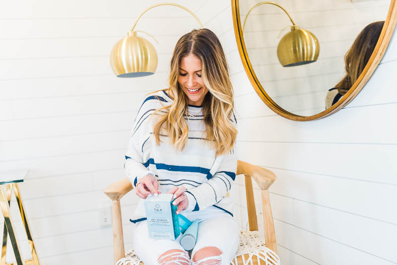 winter skincare routine with tula probiotic products