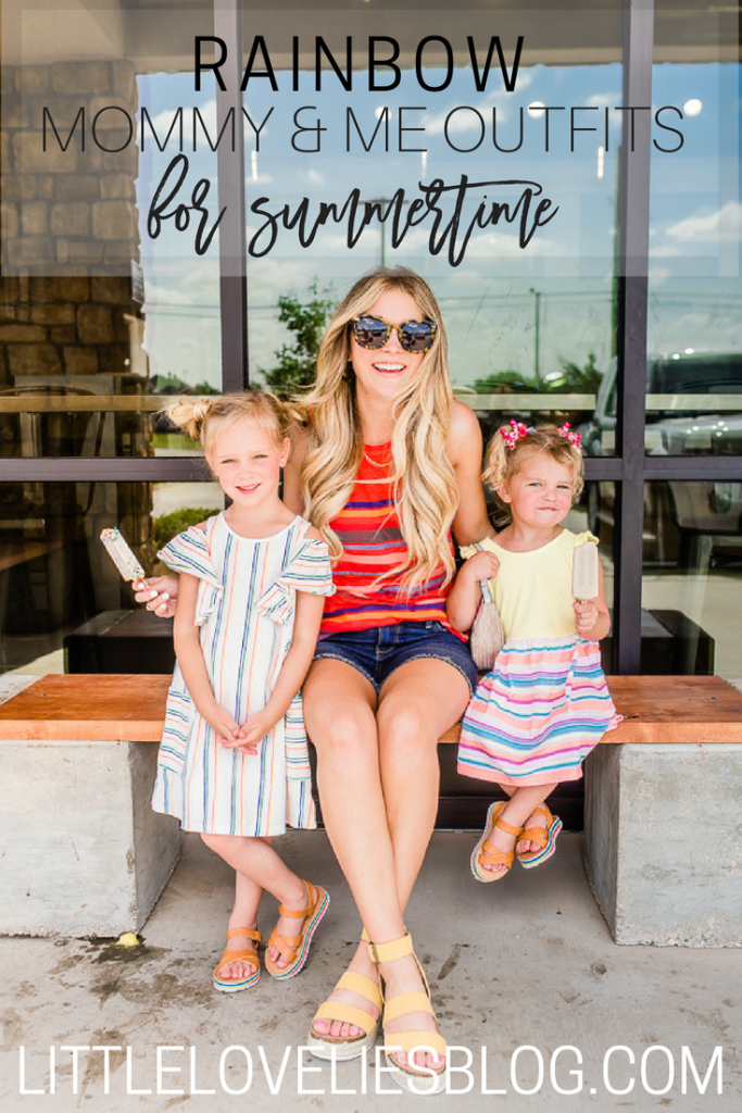 RAINBOW MOMMY AND ME OUTFITS FOR SUMMER