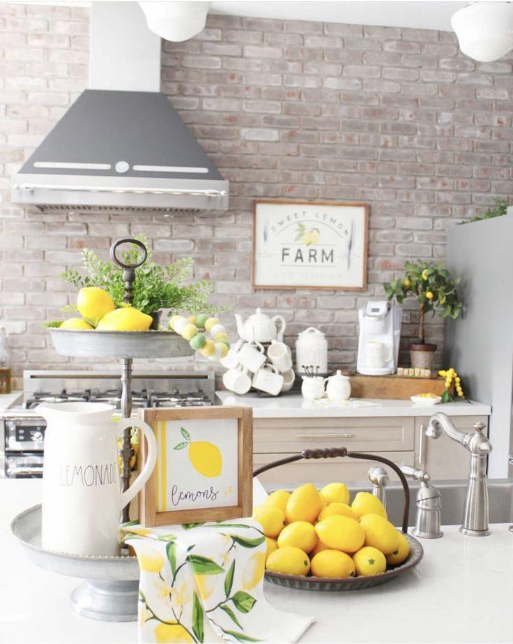 Navy And Lemon Kitchen Decor Novocom Top