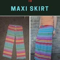 Pajama Pants Turned Into Maxi Skirt