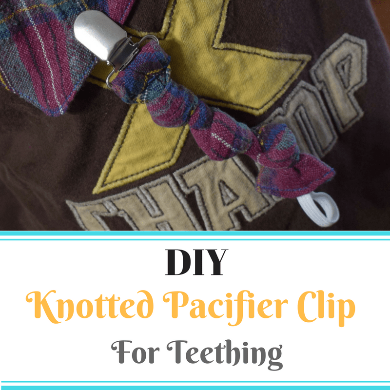 DIY Pacifier Clip Teether With Knots