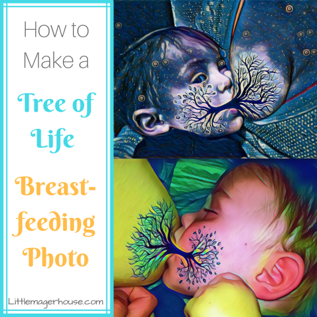 How to Make Tree of Life Breastfeeding Photos