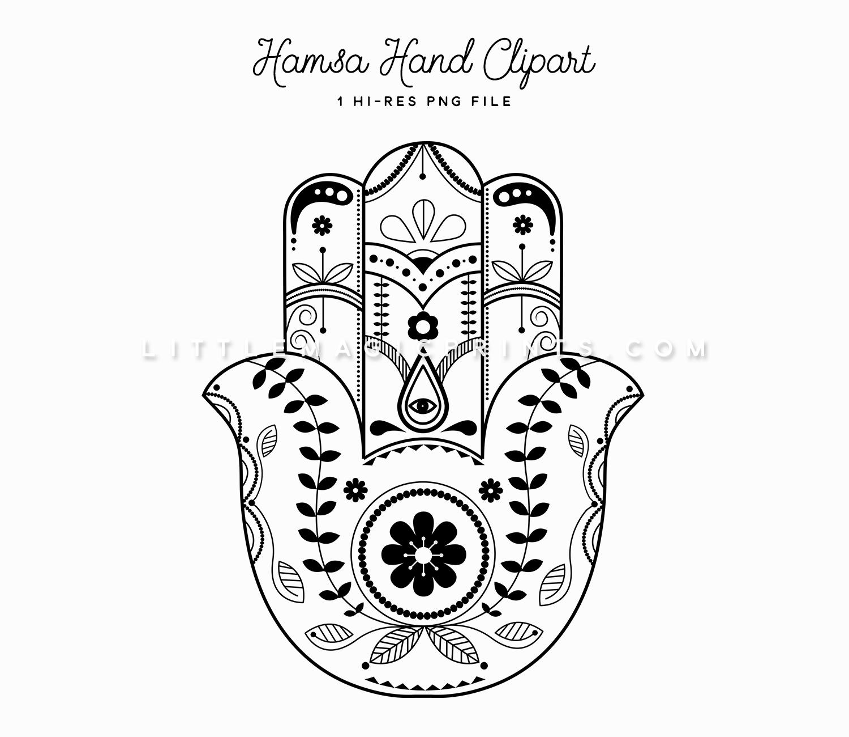 Hamsa Hand Clipart Little Magic Prints