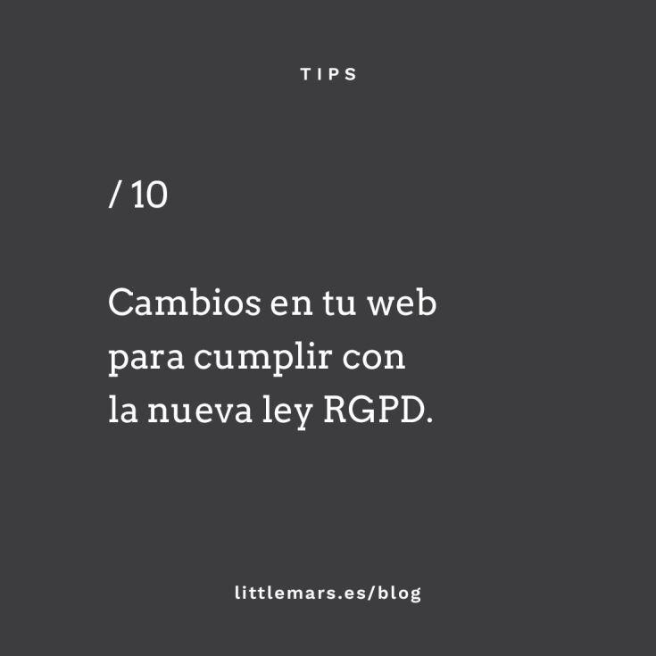 Cambios en tu web para cumplir con el RGPD