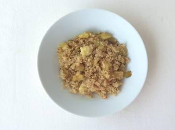 quinua con calabacín y manzana