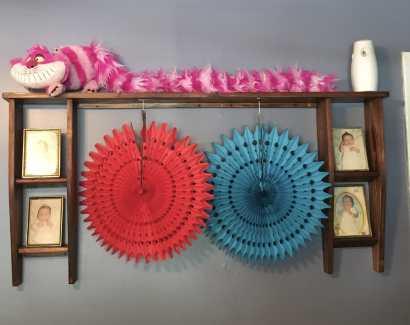 Baby shower decor Cheshire Cat plush
